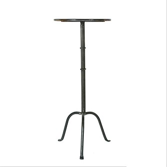 "12-1/2"" Round x 27-3/4""H Metal Martini Table"