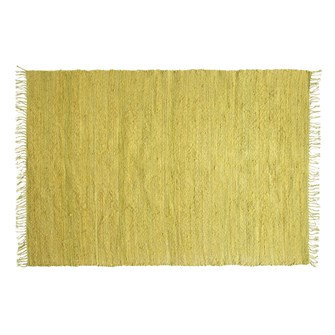 4' x 6' Hand-Woven Jute & Chenille Rug w/ Fringe, Chartreuse