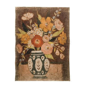 "36""W x 48""H Decorative Paper w/ Flowers in Vase, Multi Color"